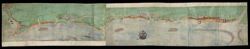 A Coloured Chart of the Coast of Suffolk, from Orwell Haven to Gorlston, near Yarmouth